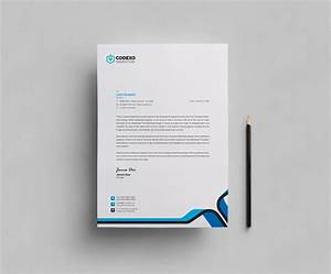 Plain Letterhead Design Template 000407
