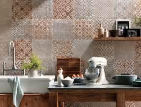 stick on backsplash for kitchen crédence cuisine carreaux de ciment patchwork et artistique