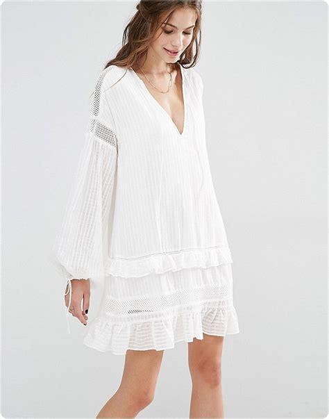 robe blanche courte boheme robe boheme blanche shandra