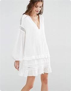 Robe Blanche Longue Boheme : robe boheme blanche shandra ~ Preciouscoupons.com Idées de Décoration