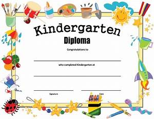 Kindergarten diploma free printable allfreeprintablecom for Kinder diploma template