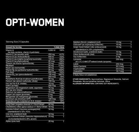 opti women multivitamin optimum nutrition