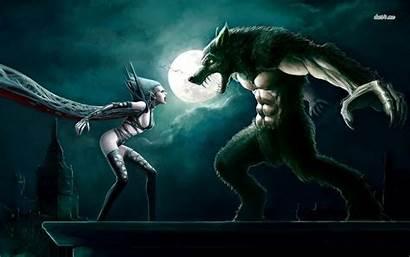 Werewolf Vampire Vampires Werewolves Vs Fantasy Wallpapers