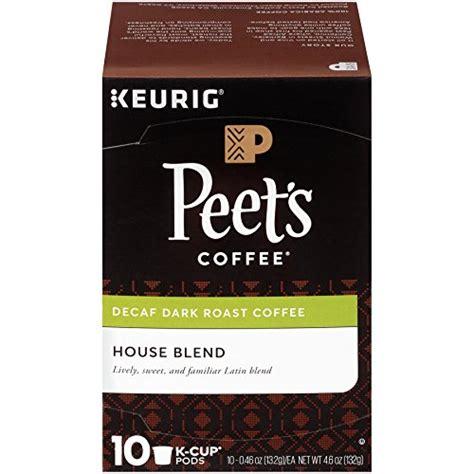 2) only handpicked red, ripe, pure kona coffee cherries. Peet's Coffee K-Cup Pack Decaf House Blend, Dark Roast ...