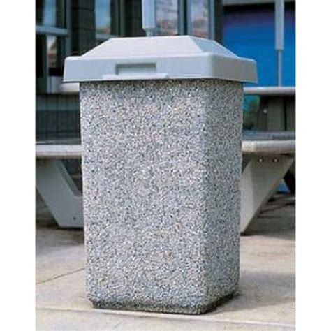 Wausau Tile Trash Can by Trash Receptacle 30 Gallon Concrete Pitch In Lid