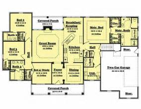 4 bedroom 1 house plans traditional country home floor plan four bedrooms plan 142 1005