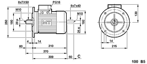 Electric Motor Sizes by Single Phase Motors Mn Series Mt Electric Motors