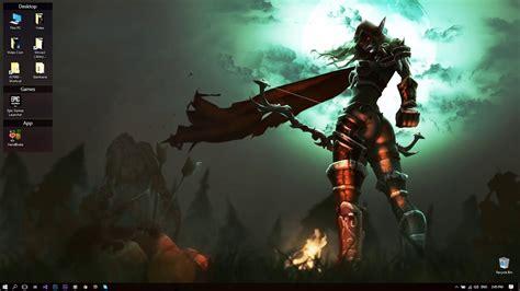 World Of Warcraft Wall Paper Desktophut Wow Sylvanas Windrunner Live Wallpaper Youtube