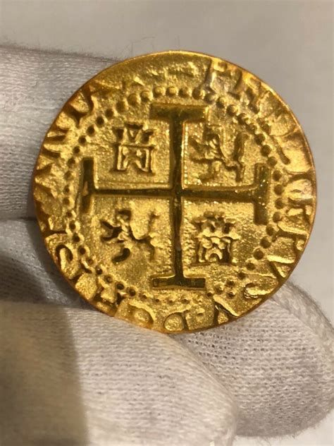 peru lima  escudos  kt plated gold doubloon