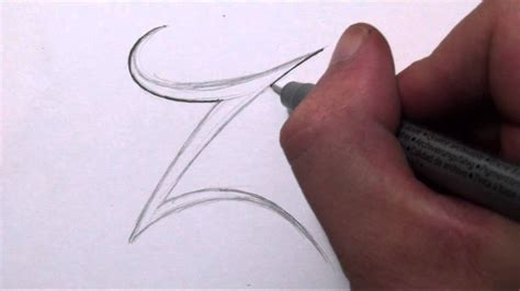 draw  simple tribal letter  youtube