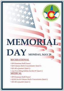 Memorial Day 2017 - Natures Herbs and Wellness