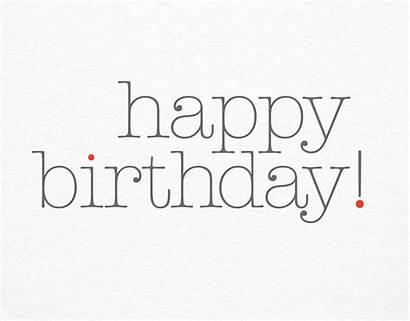 Birthday Type Card Minimal Cards