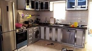 Placards De Cuisine : decore de cuisine avec placards en aluminium ides ~ Carolinahurricanesstore.com Idées de Décoration