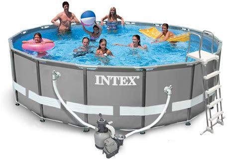 Pool Set by Intex Ultra Frame Pool Komplett Set 488x122 Sandfilter