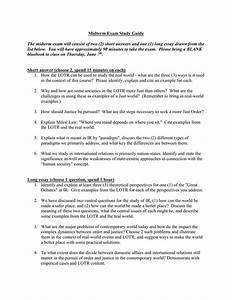 Midterm Exam Study Guide