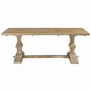 distressed wood dining table w 220cm lourmarin maisons With table a manger 4 personnes