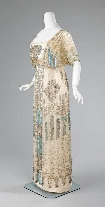 Belva Tunic turquoise and ivory beaded dress 1910 western wear