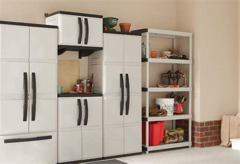 Hdx Plastic Storage Cabinets by Learn To Install Hdx Plastic Cabinets And Shelves At The