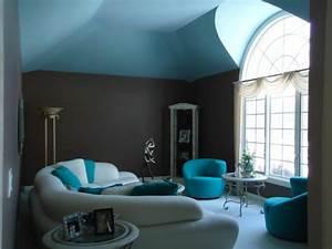 Wandfarben Ideen Wohnzimmer : wandfarbe t rkis und deko f r eine au ergew hliche ~ Lizthompson.info Haus und Dekorationen