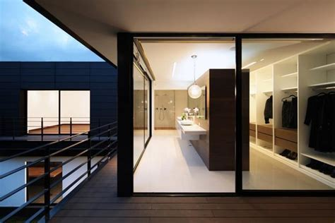 Contemporary House Design with Exterior Ceramic Panels and