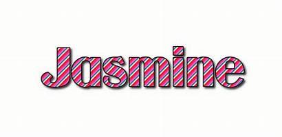 Jasmine Text Flaming Logos