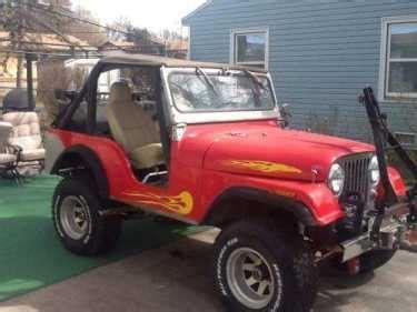 jeep cj red  sale craigslist  cars  sale