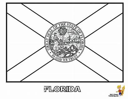 Coloring Flag Pages Florida State Patriotic Flags