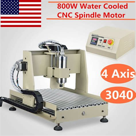 4 axis 3040 cnc router cnc engraver milling drilling engraving machine 800w vfd ebay