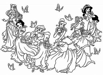 Disney Princesses Coloring Princess Childhood Adult Adults