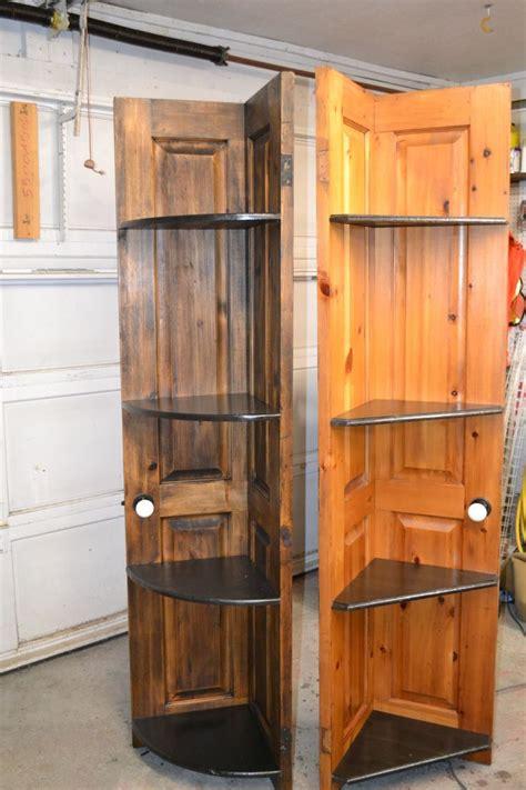 51 Corner Shelves Made From Old Door Repurposed Door Into