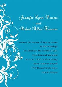 exquisite blue and white damask wedding invitations ewi019 With wedding invitation designs color blue