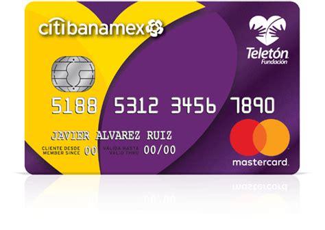 tarjeta de credito teleton citibanamex mastercard