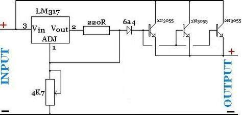 High Current Adjustable Power Supply With