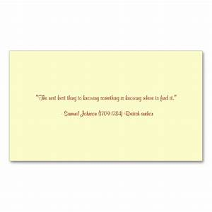 Back of business card quotes quotesgram for Business cards quotes
