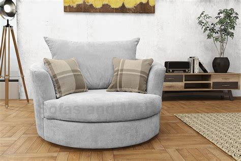 Large Swivel Round Cuddle Chair Fabric Grey Cream Brown Living Room Settee Modern Recliner Chairs Melbourne Antique Slipper Chair Uk Patio Armrest Covers Stackable Office With Wheels Santa Hat Diy Ball Cosco High Adjust Skull Meme