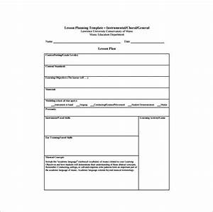 music lesson plan template 8 free sample example With examples of lesson plan templates