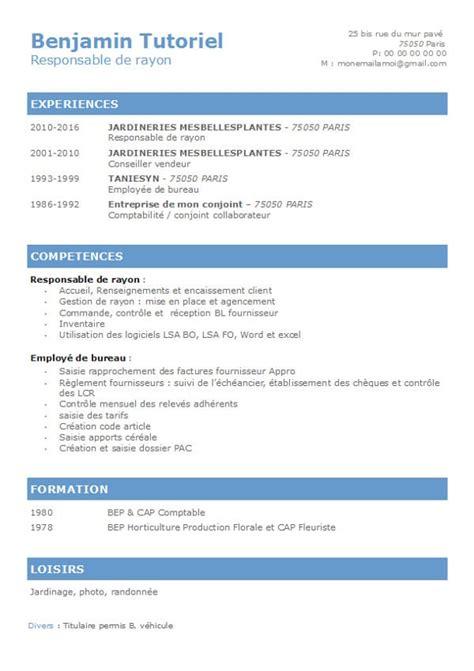 Exemple De Mise En Page De Cv by 10 Modeles De Cv Classique Richmondcajuneteenth