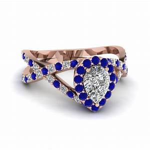 blue sapphire accent engagement rings fascinating diamonds With diamond shaped wedding ring