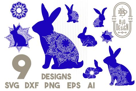 Download as svg sprite and use the icons in your web, fully customizable with only css. Bunny Mandala SVG Bundle - Monogram Mandala SVG, Mandala ...
