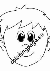 Face Cartoon Boy Template Coloring sketch template