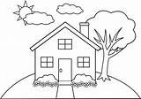 Mansion Coloring Clipart Webstockreview Related sketch template