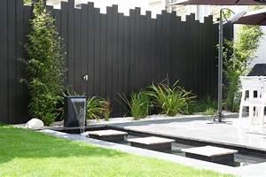 un jardin contemporain epure avec terrasses jardins de With amenager une terrasse exterieure 5 amenager parterre devant maison decor paysagiste jardin