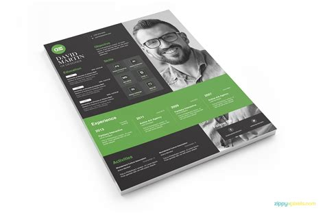 14188 creative business resume clean simplistic psd indesign ms word resume cover