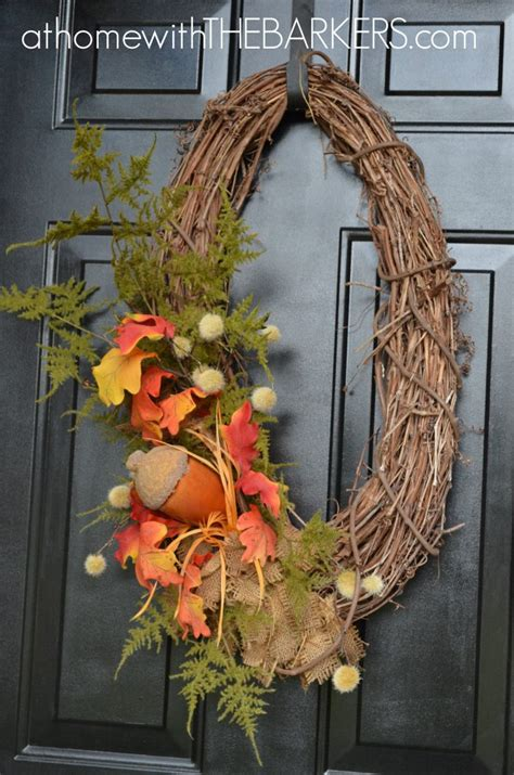 fall wreaths for front door 15 fall wreath ideas at home with the barkers