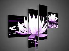 White Purple Modern Decorative Oil Painting On Canvas Wall Art Flower Black Panel With Shelves Black Wall Panel Black Wall Storage Unit Posts Related To Decorative Wall Mirrors For Living Room Inspiration Modern Mirrored Wall Art Decorating Ideas Images In Living Room