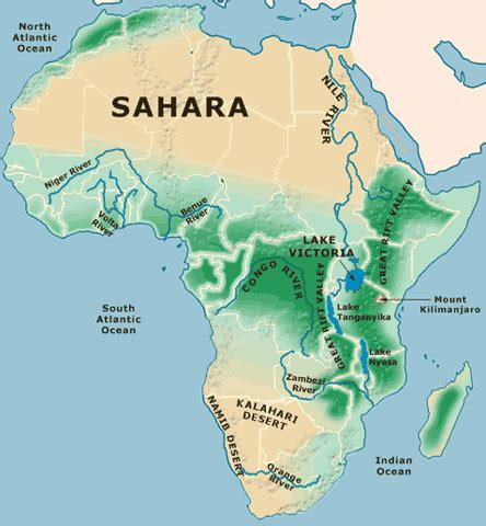 map  africa physical picture