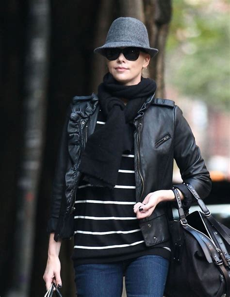 charlize theron leather jacket charlize theron outerwear