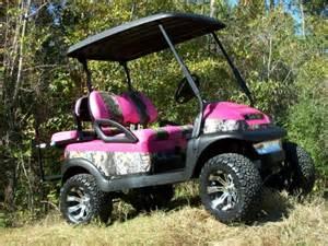 Pink Camo Custom Golf Cart