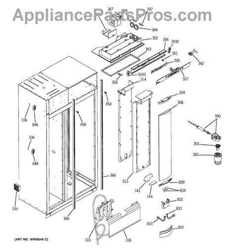 ge wrx water filter housing  tube assembly appliancepartsproscom