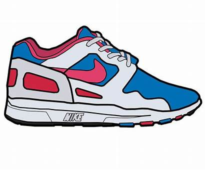 Shoe Running Clipart Shoes Nike Clip Drawing